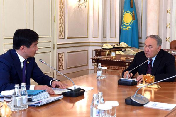 Встреча Президента Казахстана и Бауыржана Байбек