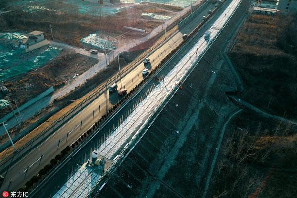 Китайская дорога вырабатывает электричество