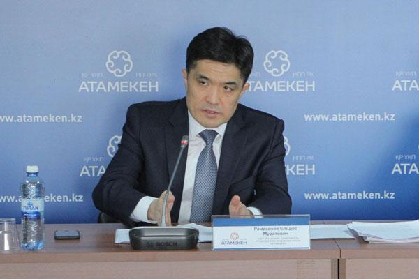 заместитель Председателя Правления НПП РК «Атамекен» Ельдос Рамазанов