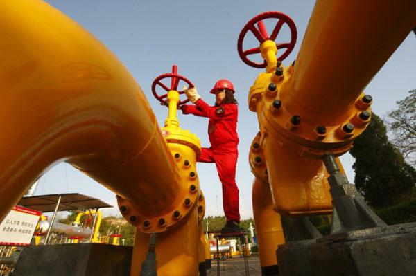 Китай увеличил и добычу газа
