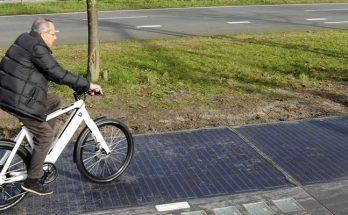 Велодорожка из солнечных панелей в Германии