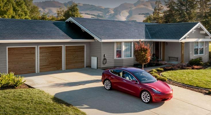 Tesla солнечные панели