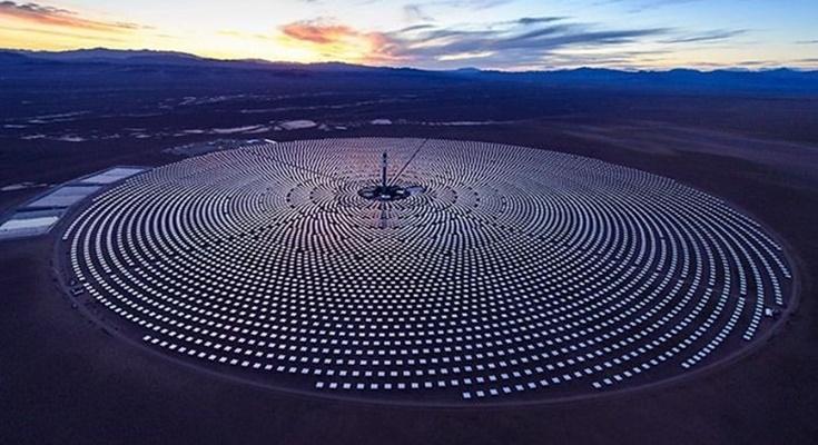 солнечная тепловая электростанция Crescent Dunes